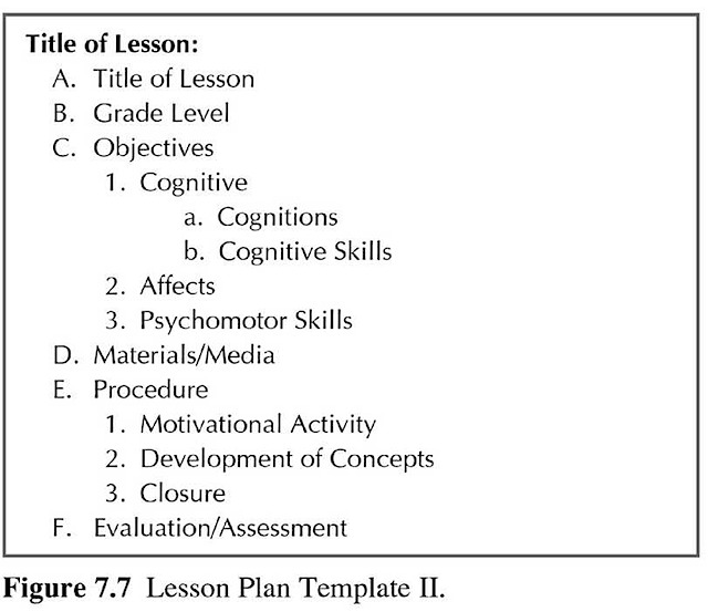 Lesson Plan Template 2 | How To Teach Science Education Real Good