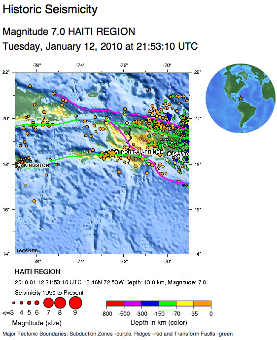 maps of haiti earthquake. of the Haiti Earthquake: