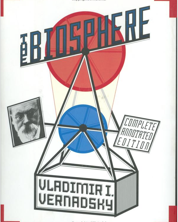 Figure 3. The cover of The Biosphere by Vladimir Ivanovich Vernadsky