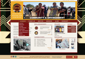 Figure 1. Santa Fe Indian School website
